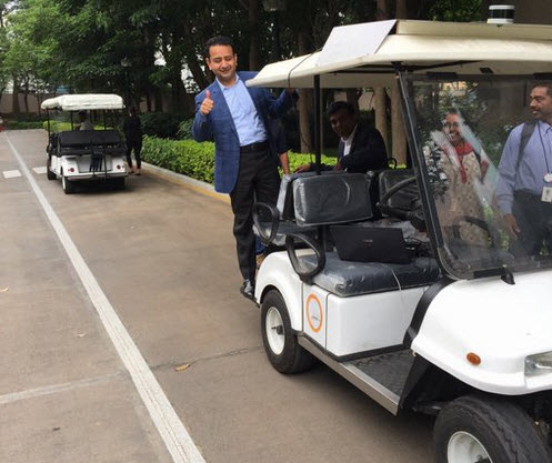 Infosys driverless cart