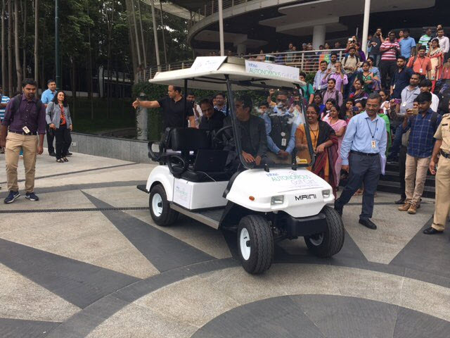 Infosys autonomous golf cart