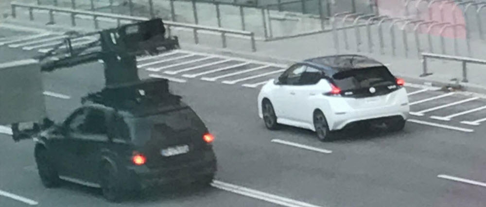 Nissan Leaf 2018 without camouflage