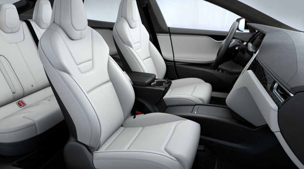 Tesla Model S rear seats new