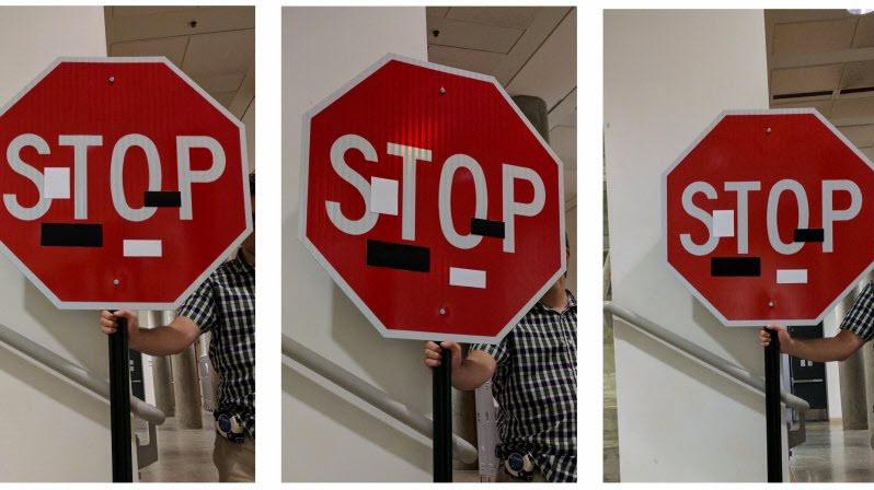 self-driving car sign hack