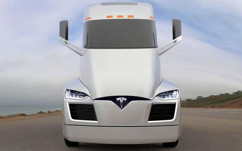 Tesla semi-autonomous-truck