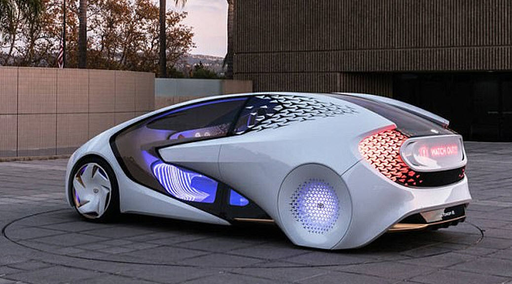 Toyota concept self driving car
