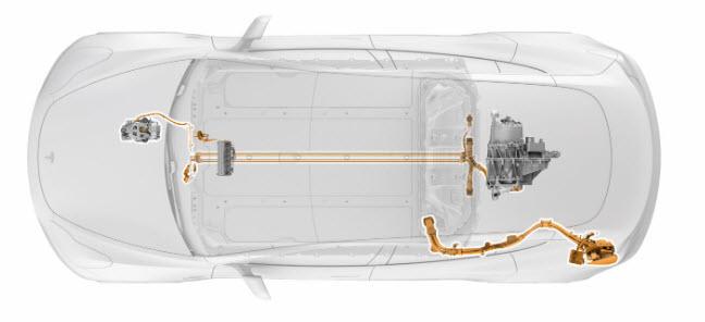 Tesla Model 3 High voltage cables