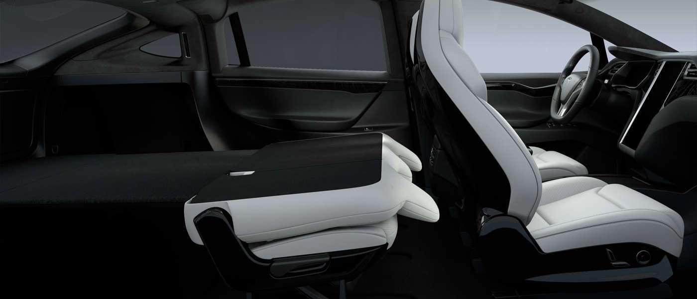 Tesla Model X fold flat seats