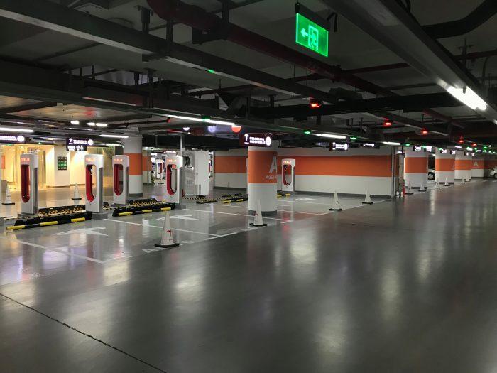 tesla supercharger shanghai