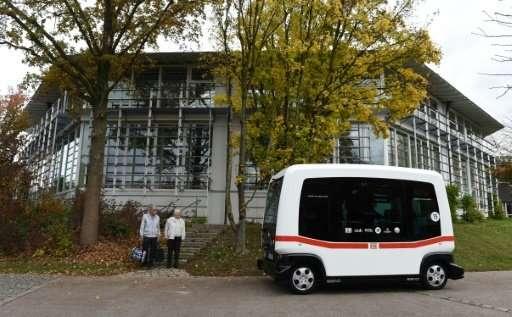 Deutsche Bahn self-driving shuttle