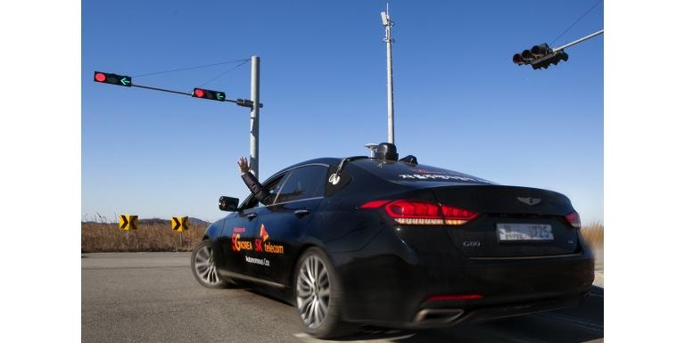 5G Korea self-driving cars