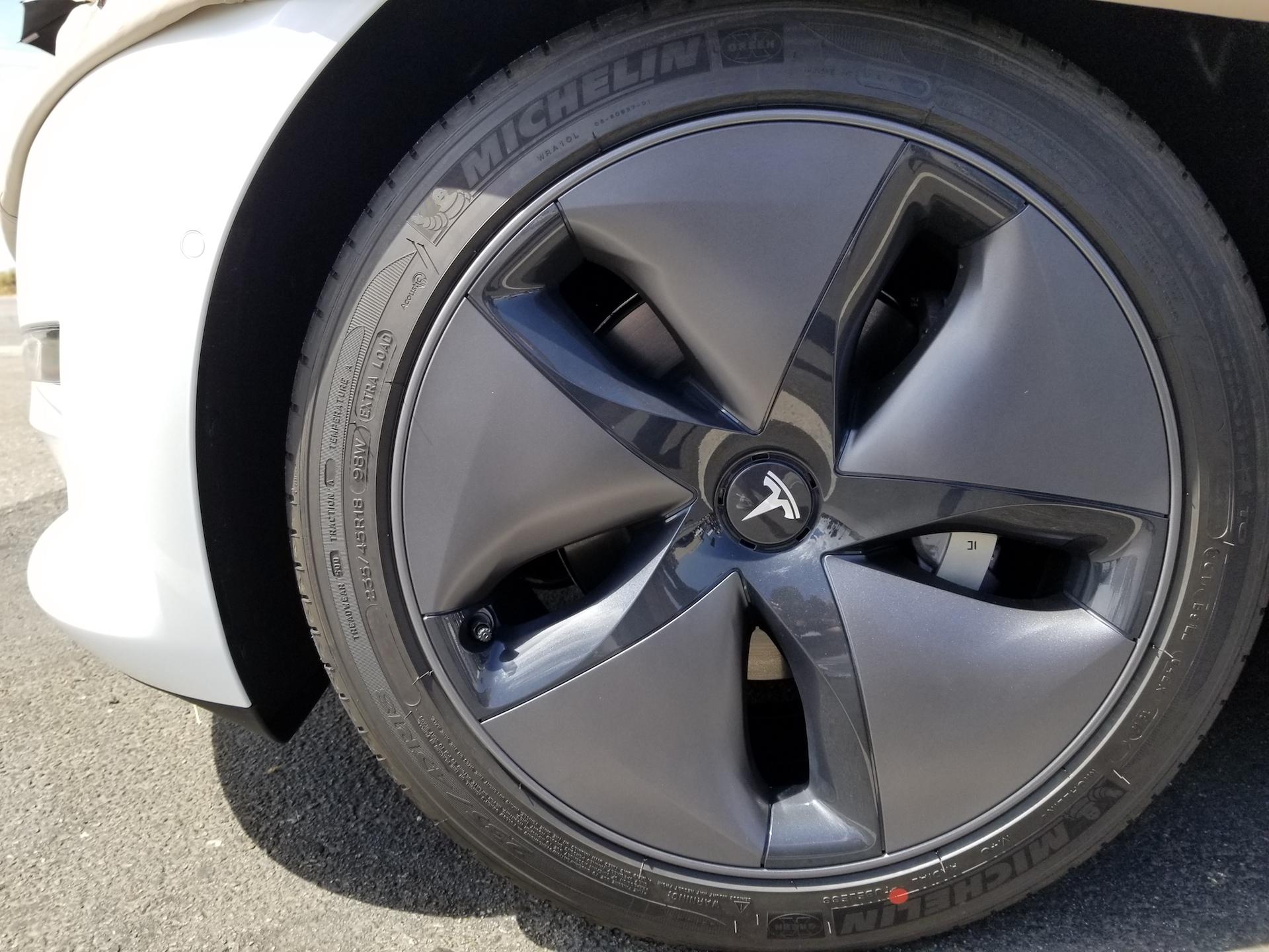 Tesla Model 3 aero wheels