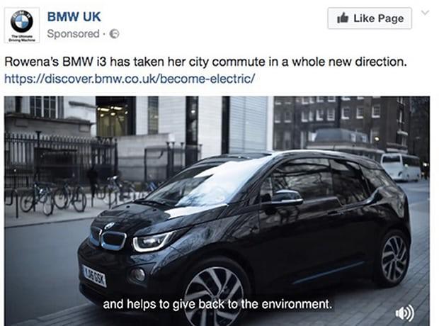 BMW i3 advertisement