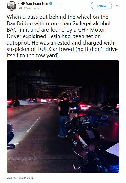 Tesla San Fransisco Police