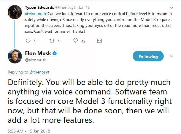 Tesla model 3 twitter