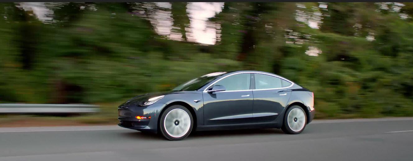 Tesla Model 3 road