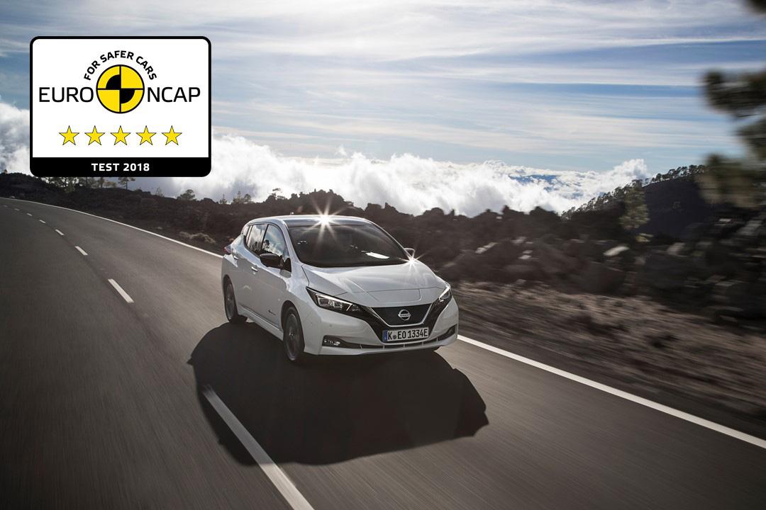 Το ηλεκτρικό Nissan Leaf 2018 βραβεύεται με 5 αστέρια στην ασφάλεια