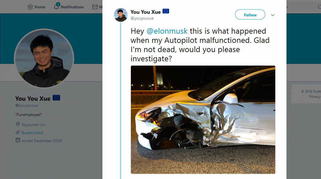 Tesla Accident Greece
