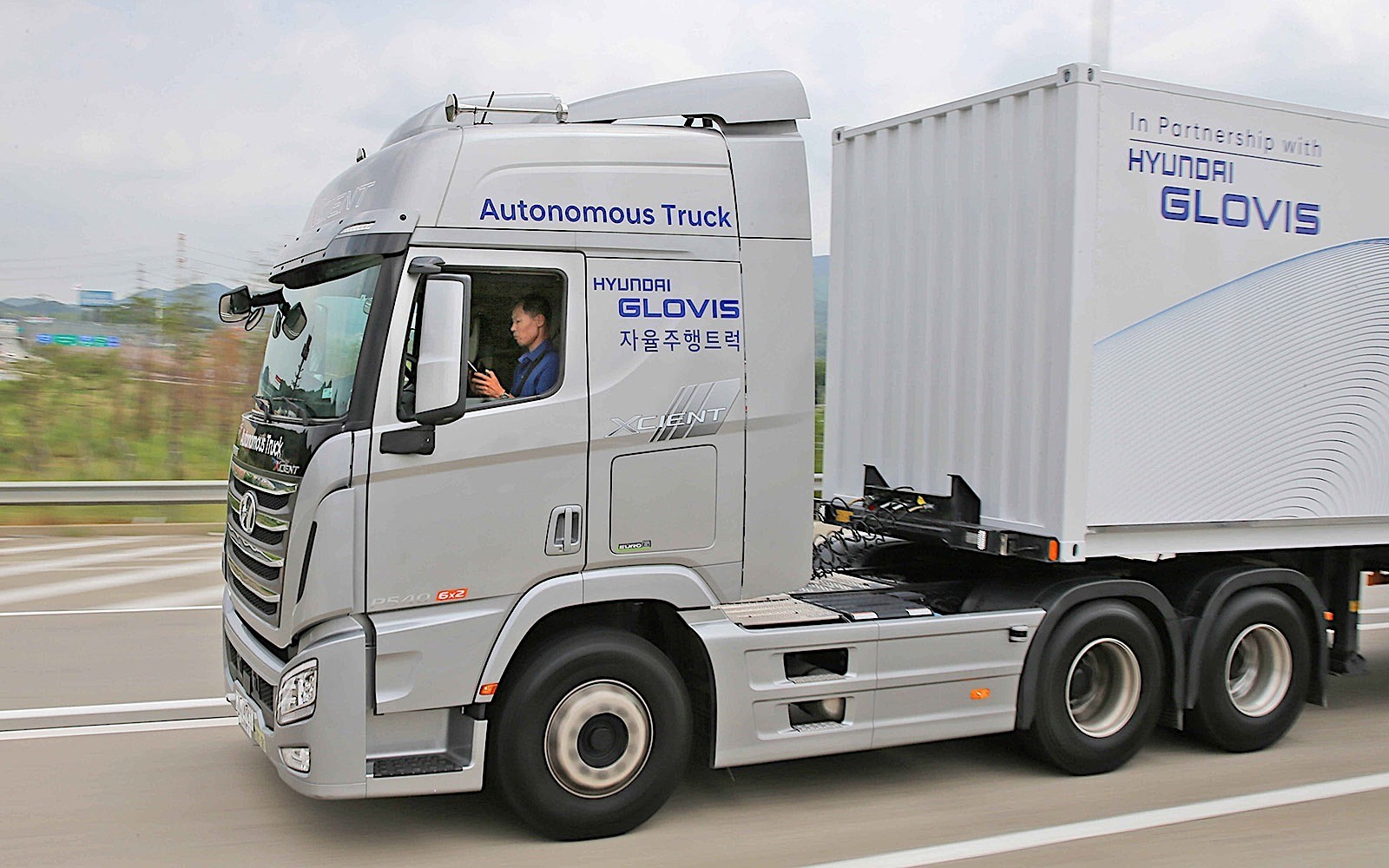 hyundai xcient self driving truck