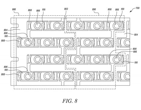 Tesla patent battery