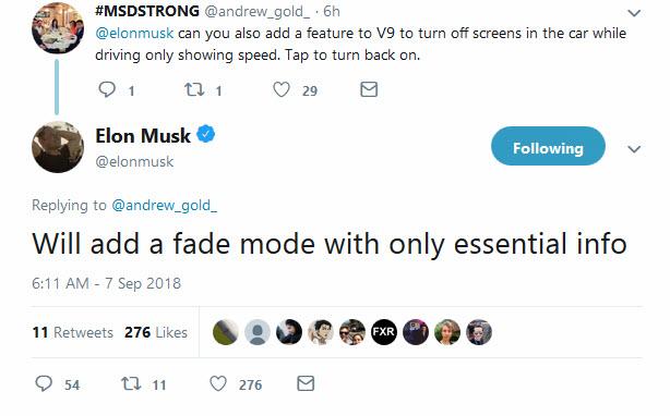 elon musk fade mode tweet