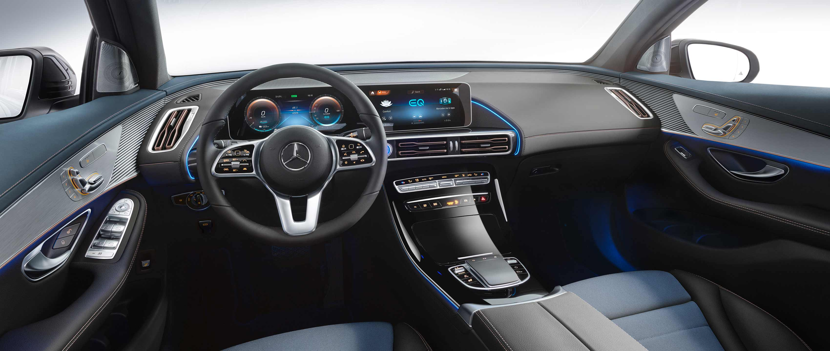 mercedes benz vehicle 2019 eqc interior