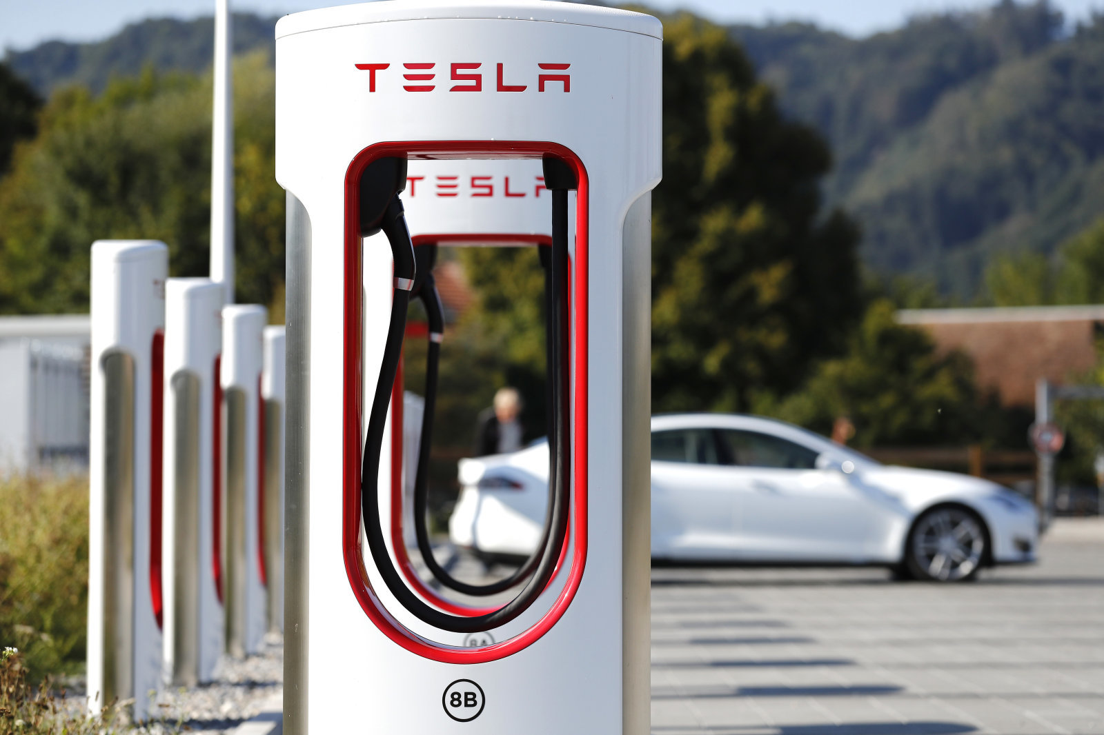 tesla electric highway supercharger Greece