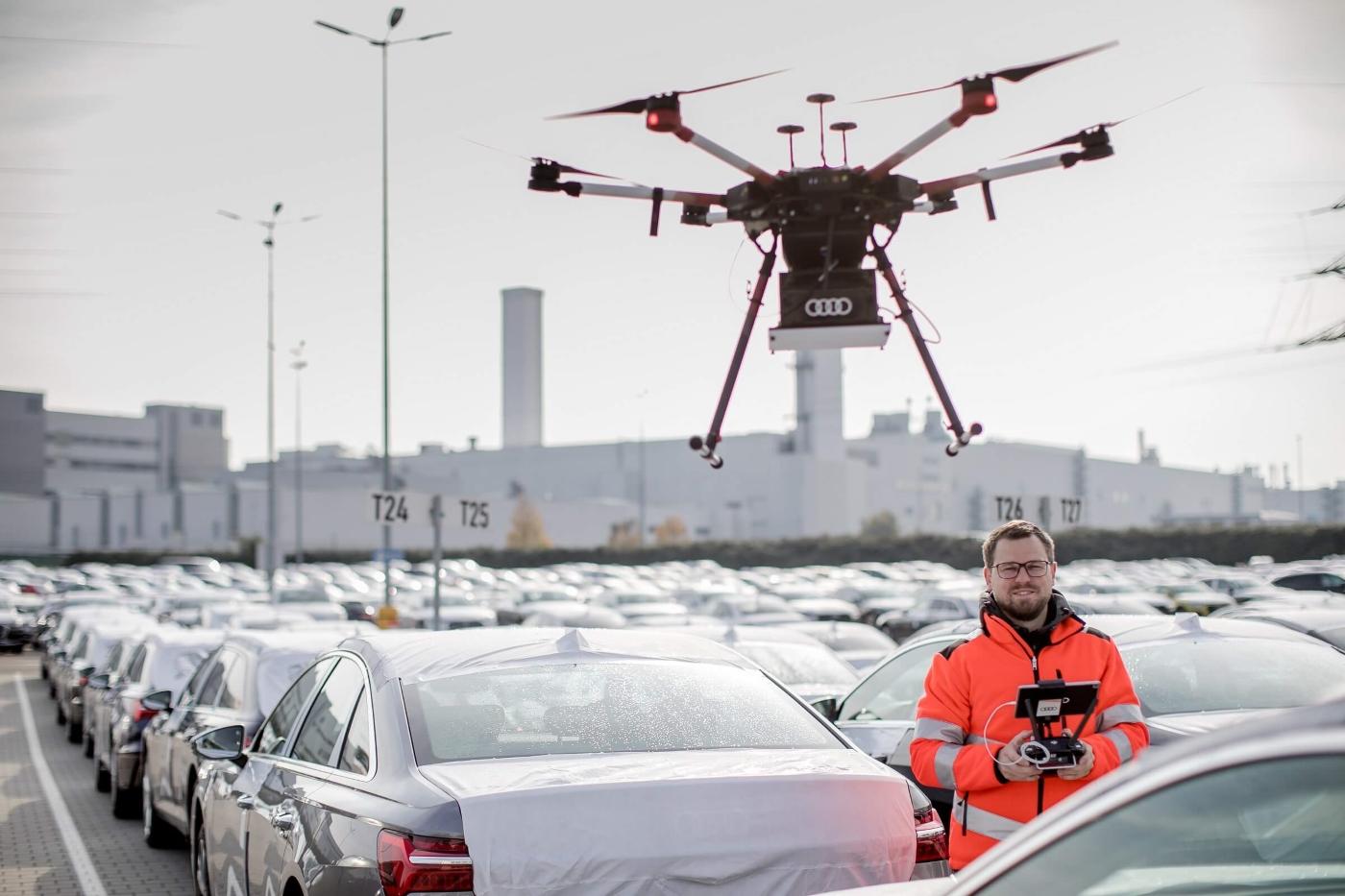 Η Audi χρησιμοποιεί drones