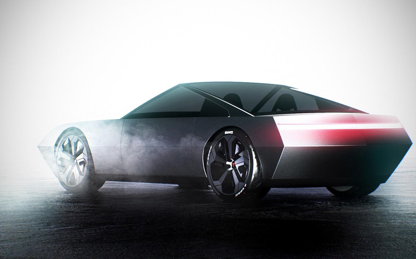 Tesla CyberCoupe / Matteo Gentile