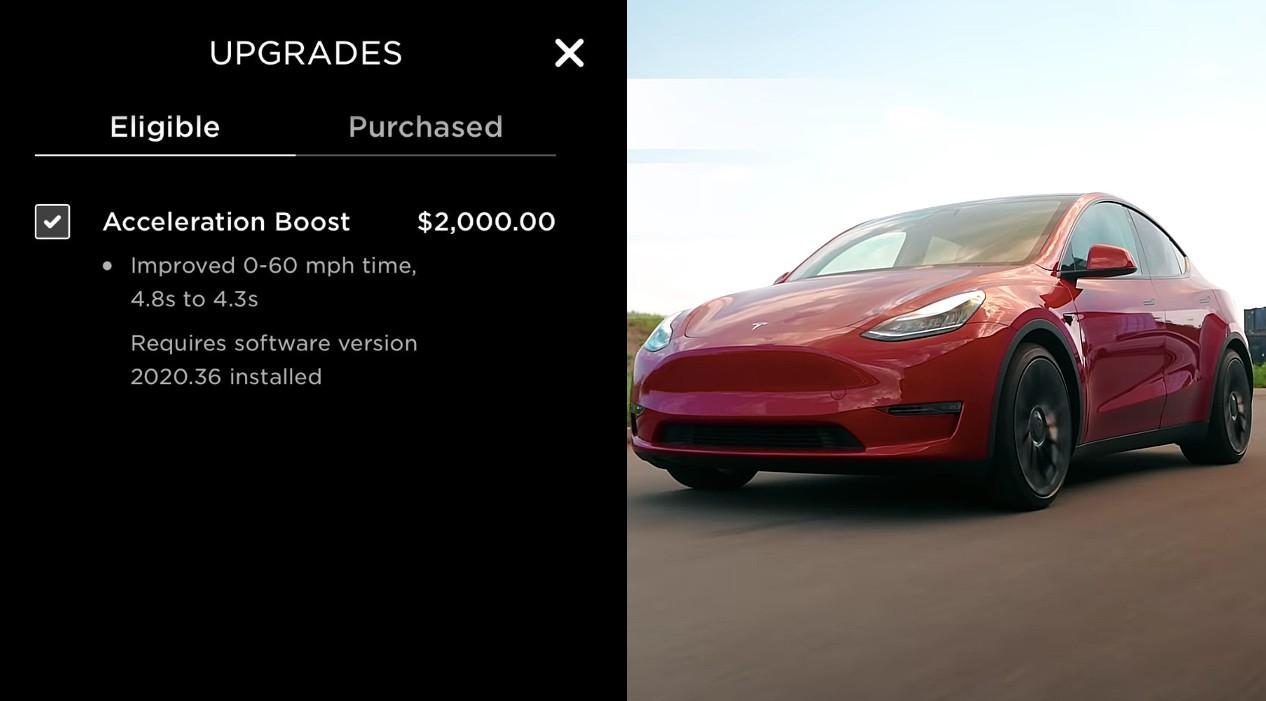 Tesla Acceleration Boost
