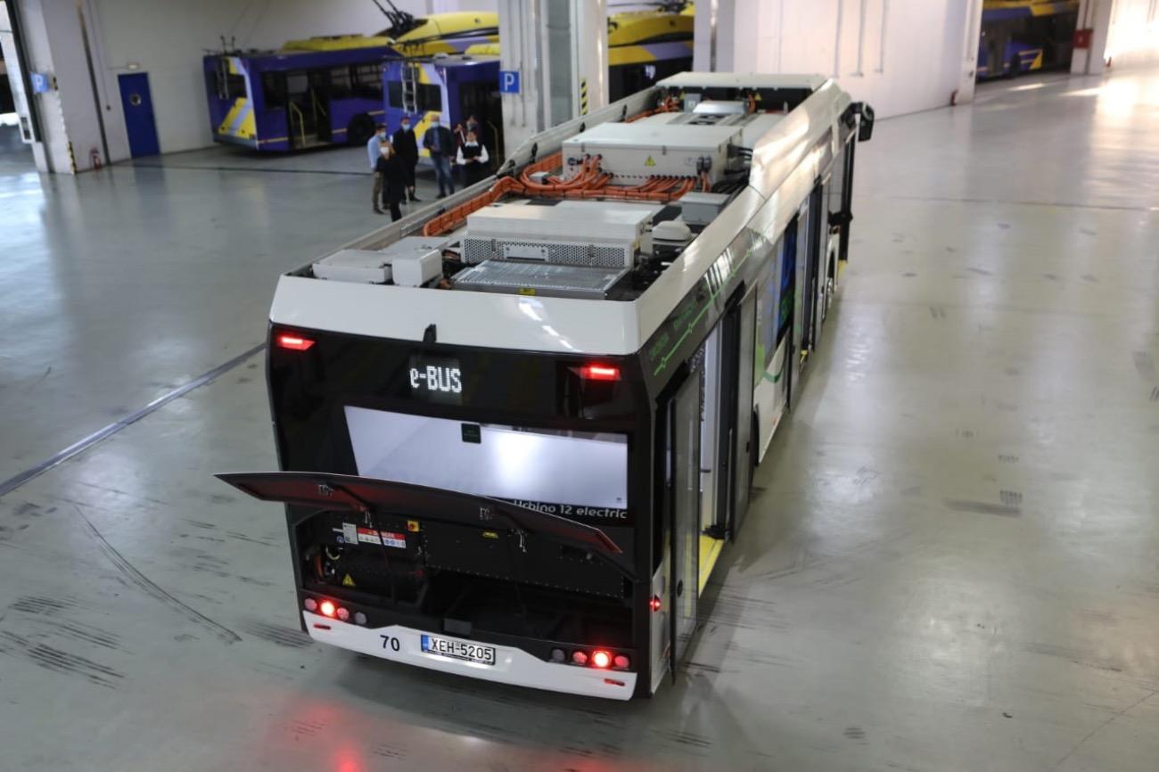 Ηλεκτρικό λεωφορείο Solaris σε δοκιμαστικές διαδρομές στην Αθήνα