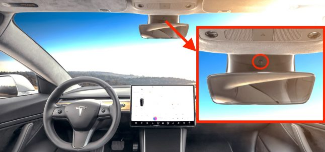 Tesla inside camera