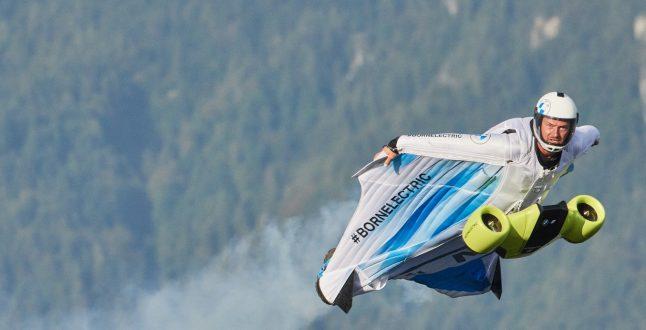 Electrified Wingsuit BMW i